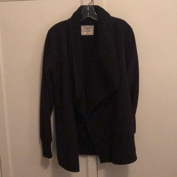 Abercrombie & Fitch Sweaters - black fleece jacket